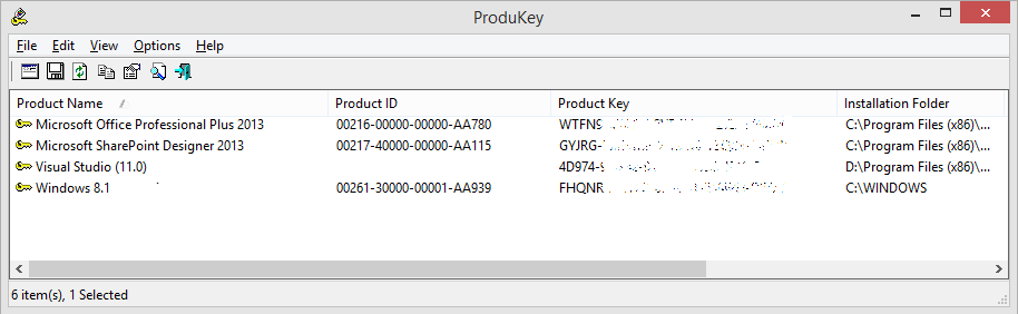 Nirsoft product cd key viewer